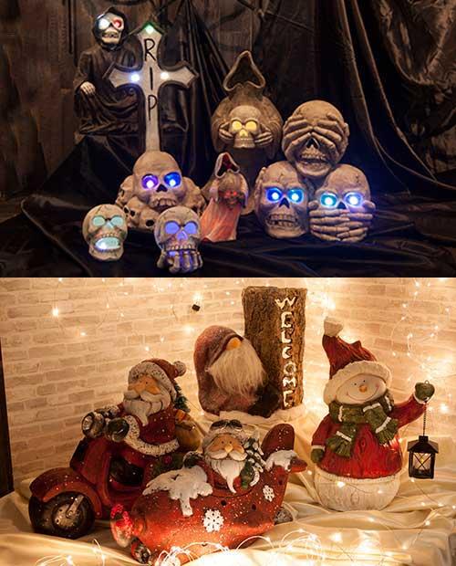 ハロウィンとクリスマス